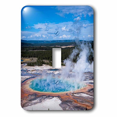 3dRose lsp_206794_1 Grand Prismatic Geyser, Midway Geyser Basin, Yellowstone Np, Wyoming - Single Toggle Switch ()