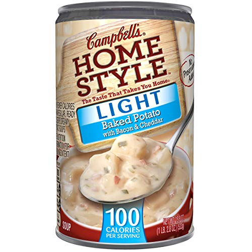 - Campbell's Homestyle Light Baked Potato with Bacon & Cheddar Soup, 18.8 oz. (Pack of 12)