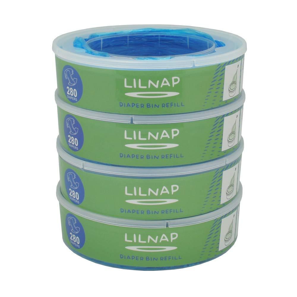 LILNAP - Recambios para el contenedor de pañales Angelcare - recarga multicapa con tratamiento EVOH antibacteriano (4 recargas) product image