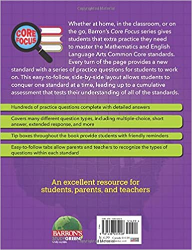 Barron's Core Focus: Grade 6 Test Practice for Common Core ...