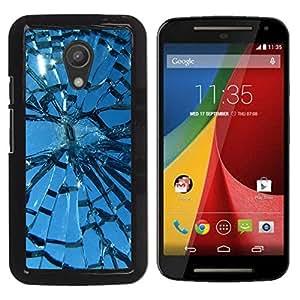 Paccase / SLIM PC / Aliminium Casa Carcasa Funda Case Cover para - Broken Glass Sun Window Blue Sky - Motorola MOTO G 2ND GEN II