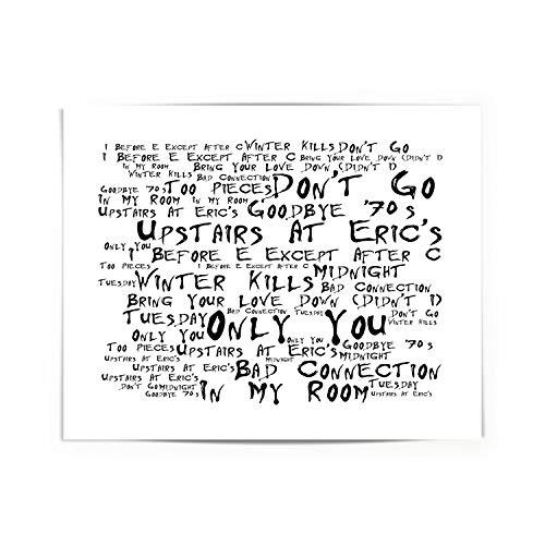 Upstairs at Eric`s Yazoo Poster Print Lyrics Gift Signed Art