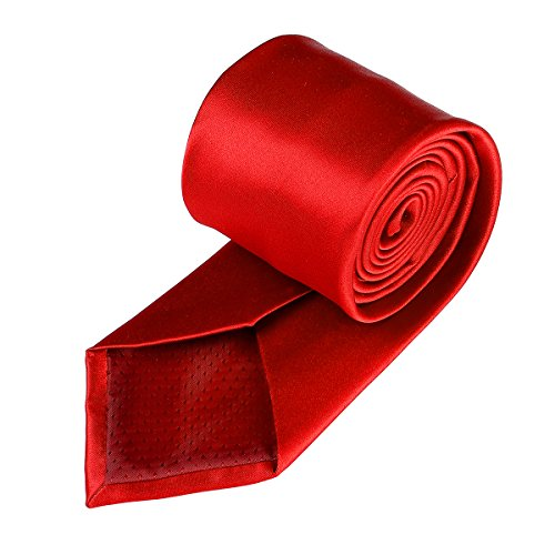 red 22 Party Color Wedding Satin Ties Polyester for Pure Work Plain Colors Neckties Formal in Neck Men Solid 17 Classic 4anHq4Ow