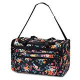 Zodaca Designed Duffel Travel Bag, Multi-color Marion Floral Print Review