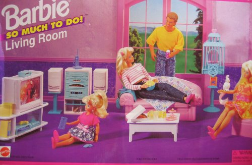 Merveilleux Barbie So Much To Do Living Room Playset (1995 Arcotoys, Mattel) By Barbie