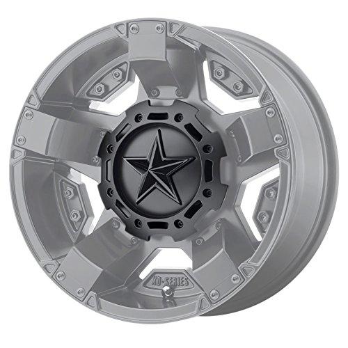 KMC XD Series Rockstar 3 827CAPMB-GB-1 T116L188 S1604-11 Matte Black Center Cap Gloss Black Star (Kmc Rockstar Rims)