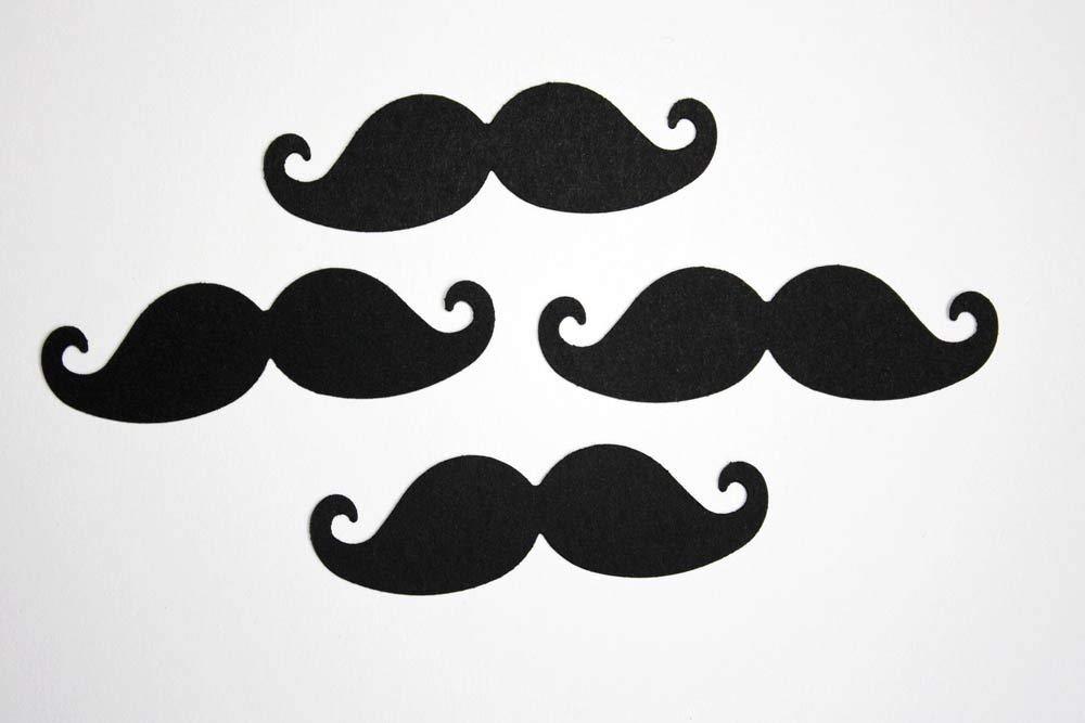 Mustache Cut Outs 15 Large 4 inch Mustache Die Cuts