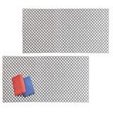 mDesign Decorative Kitchen Sink Dish Drying Mat/Grid - Quick Draining Design - Soft Plastic Pad Protects and Cushions Sinks, Stemware, Wine Glasses, Dishes - Diamond Design, 25'' Long, 2 Pack, Graphite
