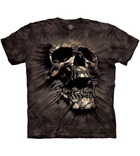 The Mountain Breakthrough Skull Adult T-Shirt, Black, XL