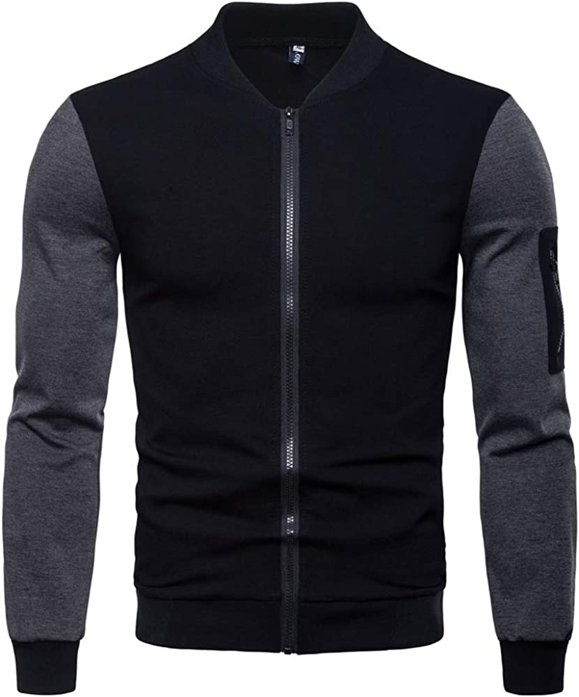 Ms lily Mens Fashion Casual Mens Stand Collar Jacket