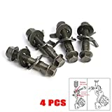 4PCS 14mm Steel Car Four Wheel Alignment Adjustable Camber Bolts 10.9 Intensity
