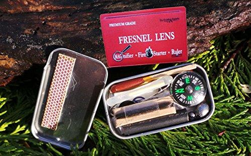 PREMIUM GRADE Fresnel Lens Pocket Wallet Credit Card Size • Magnifier • Solar Fire Starter • Ruler UNBREAKABLE Plastic (10 pack PREMIUM GRADE Ruler/Magnifier)