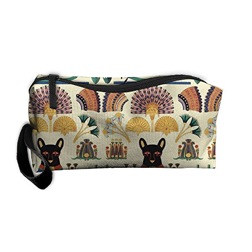 Portable Durable Waterproof Travel Bag Black Cats Goddesses Bastet Ancient Egypt Home Makeup Toiletry Cosmetic Pencil Medicine (Bastet Ancient Egypt)