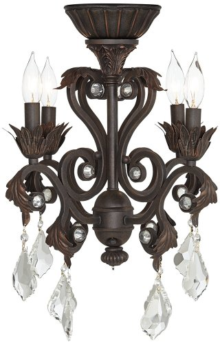Chandelier Light Kit - 4-Light Oil-Rubbed Bronze Chandelier Ceiling Fan Light Kit