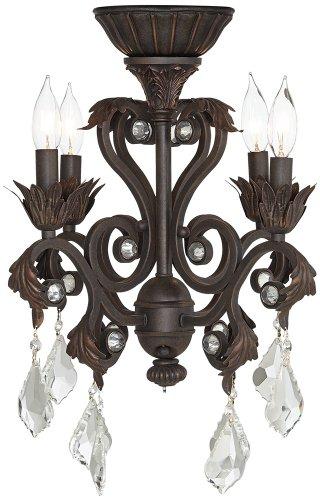 Universal Lighting 4-Light Oil-Rubbed Bronze Chandelier C...