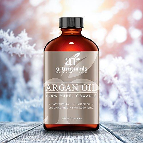 Art Naturals 100% reines Arganöl 120 ml, für Haar-, Gesicht- und Körperpflege | Unberührt & Kaltgepresst vom Kern des marokkanischen Arganbaumes | Anti-Aging | Natürlicher Feuchtigkeitsspender