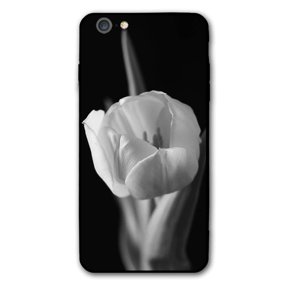 Amazon com iphone 6 plus case black and white tulips protective case scratch resistant cover skin cover for apple iphone 6 plus 5 5 inch cell phones