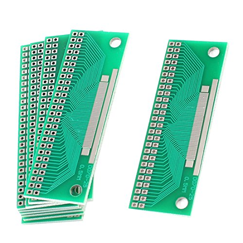 Aexit 10 Pcs Universal Single Side FPC LCD Adapter PCB Board 67mmx23mm
