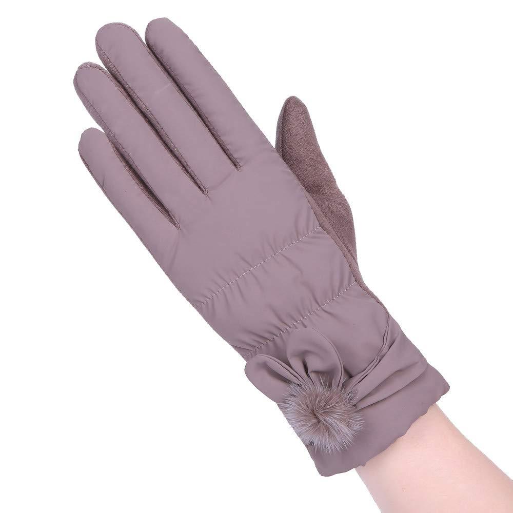 BingYELH Women Winter Outdoor Sport Ski Gloves Windproof Touch Screen Gloves Outdoor Sport Ski Gloves Gift Gloves Mittens