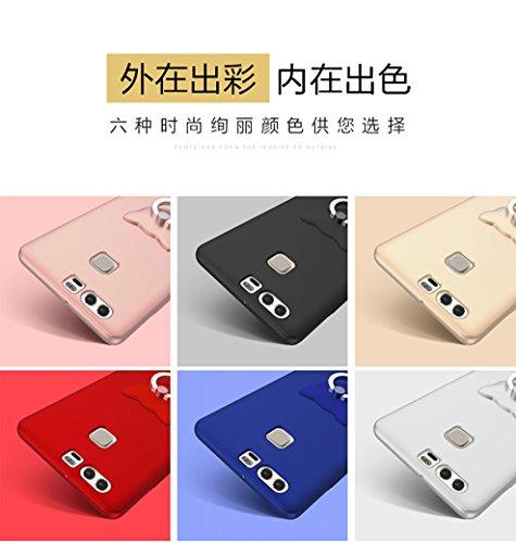 Huawei P9 Lite/G9/P9 min Funda,Case Cover[Silky]Alta Calidad Ultra Slim Anti-Rasguño y Resistente Huellas Dactilares Totalmente Protectora Caso de Plástico Duro Huawei P9 Lite/G9/P9 min Funda(SJLC7-11 B