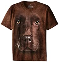 The Mountain Men's Chocolate Lab Face T-...