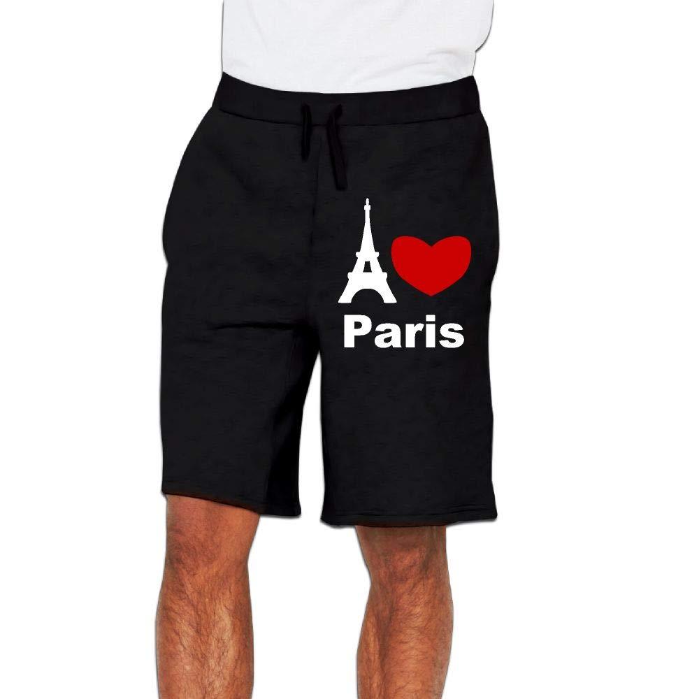 Men's I Love Paris Jogger Shorts Bodybuilding Short