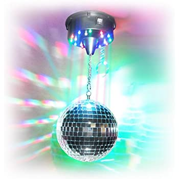 Amazon Com 8 Quot Led Disco Mirror Ball Kit With Motor And