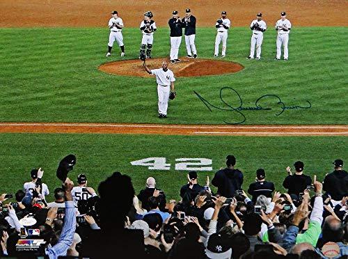 Mariano Rivera Autographed NY Yankees 16x20 PF Photo Tipping Cap- JSA Auth