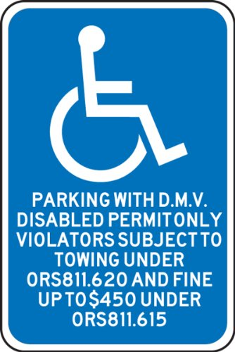 Parking Only Sign Aluminum Top - 7