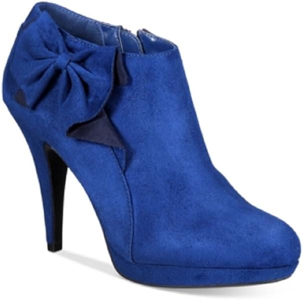 24b2d728cb7c3 Amazon.com | Impo Portia Bow Booties Blue 9.5M | Boots
