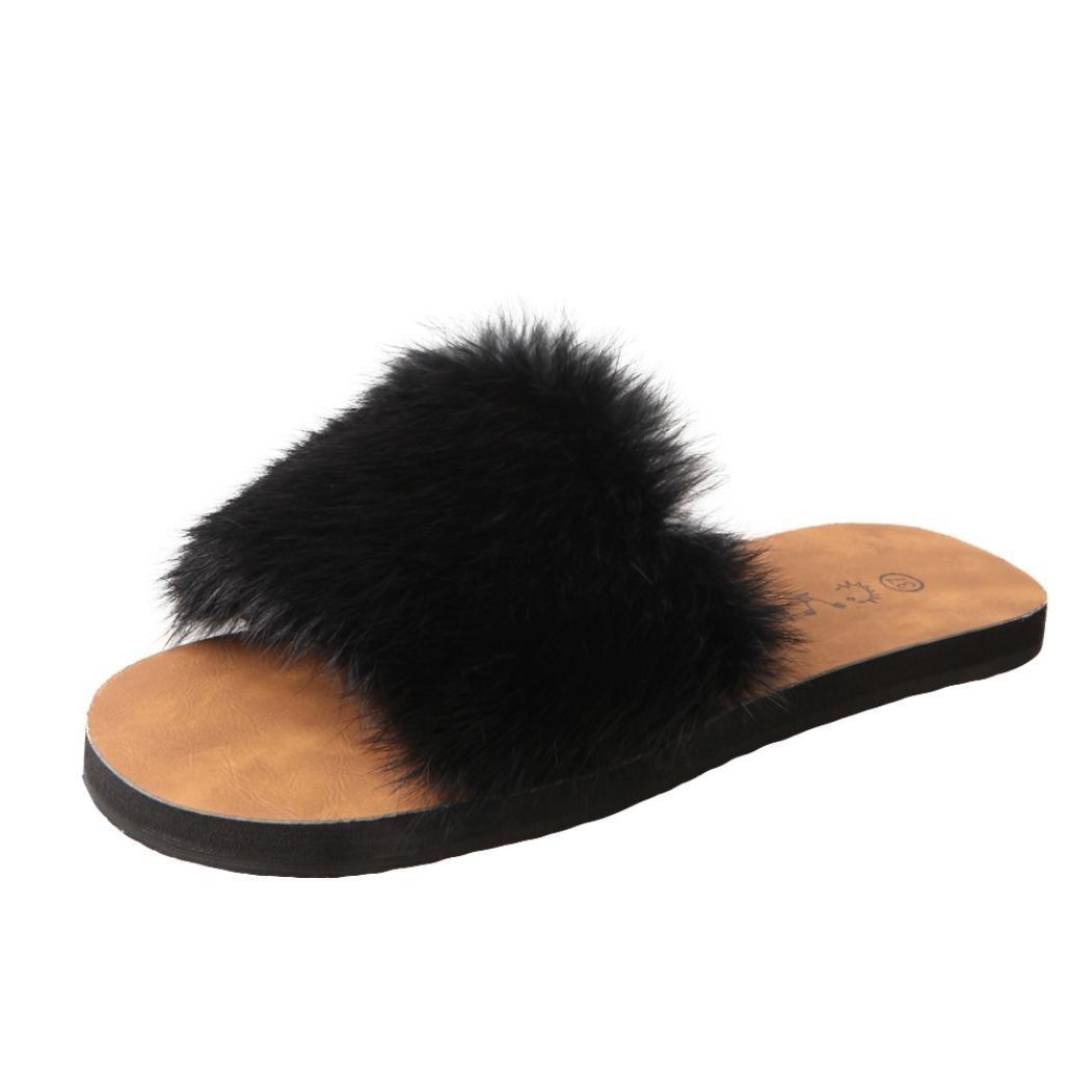 Estivi Sandali Donna,Witsaye Eleganti Donna Pantofole Fiori Scarpe Ciabatte Pantofole da Spiaggia Ragazze Infradito Nero