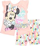 #2: Disney Minnie Mouse Baby Infant Toddler Girls' T-Shirt & Bike Shorts Set