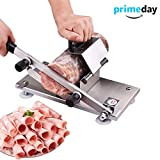 Meat Slicer Manual Frozen Meat Slicer Machine Stainless Steel Food Cutter for Beer Mutton Ham Vegetable Cheese