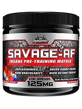 Savage AF Pre-Workout Powder Bombiscle Blast