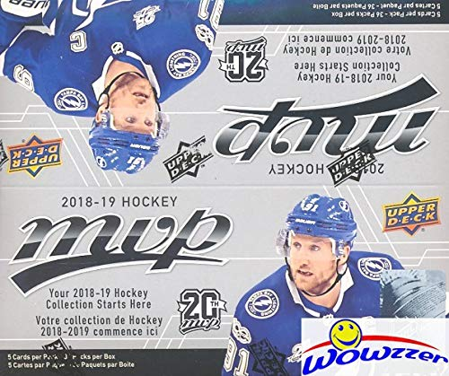 (2018/19 Upper Deck MVP NHL Hockey MASSIVE Factory Sealed Retail Box with 36 Packs & 180 Cards! Includes (5) Silver Script Parallels & (9) High Series Short Prints! Brand New & Loaded! WOWZZER!)