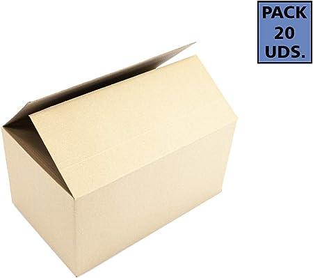 Pack de 20 Cajas Mudanzas Grandes | Medidas 50x30x30 cm en Material Cartón Doble | Cajas Mudanzas: Amazon.es: Hogar