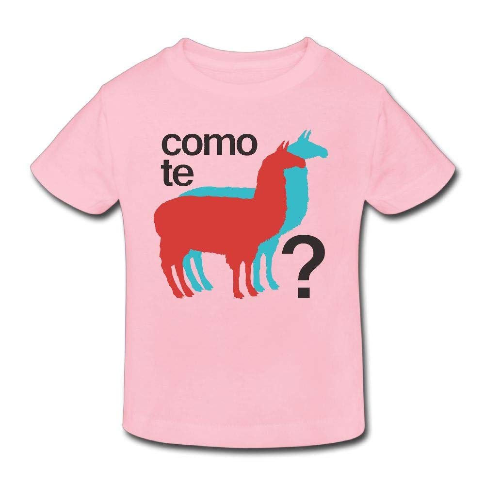 Shanala Como TE Llamas Age 2-6 Kids T-Shirt for Girls Boys Pink