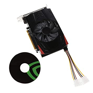 Mikiya GTX-750TI-OC-2GB GTX750TI - Tarjetas gráficas para PC de sobremesa (128 bits GTX 750TI 2G D5 DDR5)