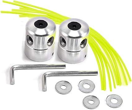 Forever Speed 2 cabezales de hilo de aluminio, cabezal de doble filamento, bobina de hilo, cabezal para desbrozadora de gasolina con 4 hilos: Amazon.es: Bricolaje y herramientas