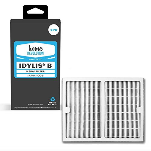 2 Home Revolution Replacement HEPA Filters, Fits Idylis IAP-10-125 and IAP-10-150 Air Purifiers and Type B Part IAF-H-100B (Filter A Idylis Type)