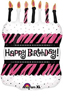Amscan 33 inch Oh So Fabulous Birthday Cake Foil Balloon - Multi Color