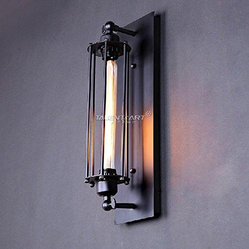 Anbiratlesn Modern E27 Vintage Rustikal Wandlampe für Schlafzimmer Wohnzimmer Korridor Badezimmer Küche Industrielle Retro Treppe Balkon Schmiedeeisen 14 CM  47 CM