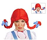 Wendys Wig with Braids Red Fast Food Costume Wig for Kids and Adults