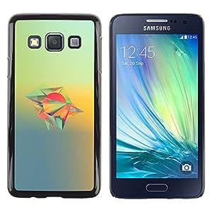 Diseño abstracto - Metal de aluminio y de plástico duro Caja del teléfono - Negro - Samsung Galaxy A3