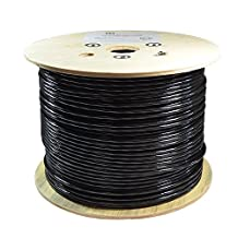 Dripstone 1000ft STP CAT6A Shielded Double Jacket Outdoor / Direct Burial Pure Copper Ethernet Cable 23AWG CMXT Waterproof Wire Pass Fluke Test