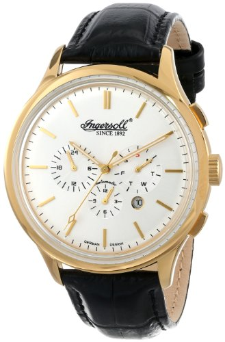 Ingersoll Men's IN2815GSL Mackinac Analog Display Automatic Self Wind Black Watch