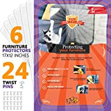 """Amazing Shields - Six(6) X-Large Furniture Protectors from Cats - Cat Repellent for Furniture - Cat Scratch Deterrent - Cat Couch Protector - Scratch pad - Cat Couch(17"""" L X 12"""" W)"""