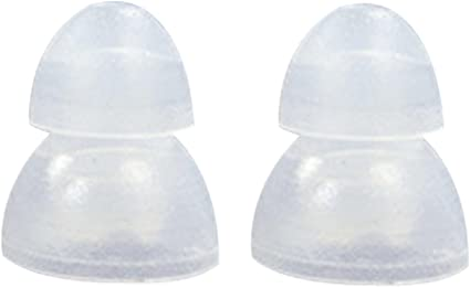 4 S 4 L Clear Double Flange Replacement Eartips buds gels for Shure Earphones