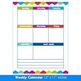 Best EXTRA LARGE 13'' x 17'' Dry Erase or Wet Erase Laminated Weekly Magnetic Dry Erase Calendar Planner & Organizer- Perfect for Refrigerators Keep Track of Kids Chores, Tasks, To Do's Events and More!