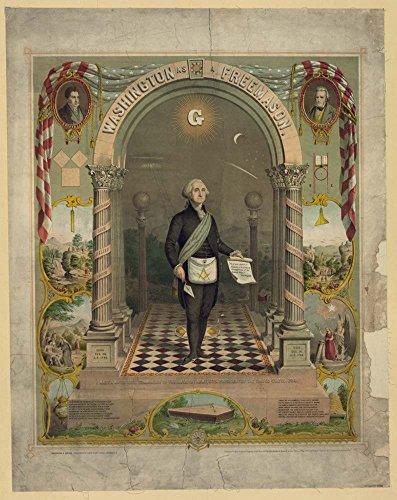 Washington as a Freemason / Strobridge & Gerlach lithographers, Pike's Opera House, Cincinnati, O.